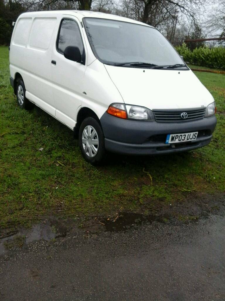 Toyota hiace 2003 d4d swb van good condition | in Uttoxeter, Staffordshire | Gumtree
