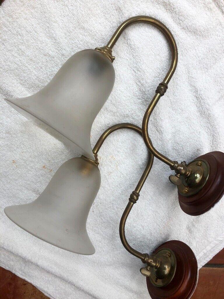 Astonishing Antique Victorian Wall Lights Pair With Original Shades Rewired In Wiring 101 Bdelwellnesstrialsorg