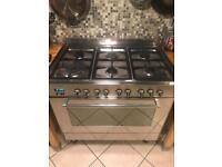 Delonghi 90 cm dual fuel oven hob