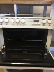 Creda ceramic 600 wide double fan oven cooker