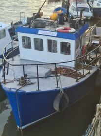 37ft fishing boat work boat cat3304 engine