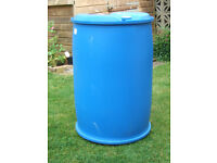 205 Lt Blue plastic barrels ideal waterbutts /builders buckets /plasterers bucket
