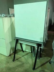 Office Furniture - Mobile Double Sided Whiteboard - $150