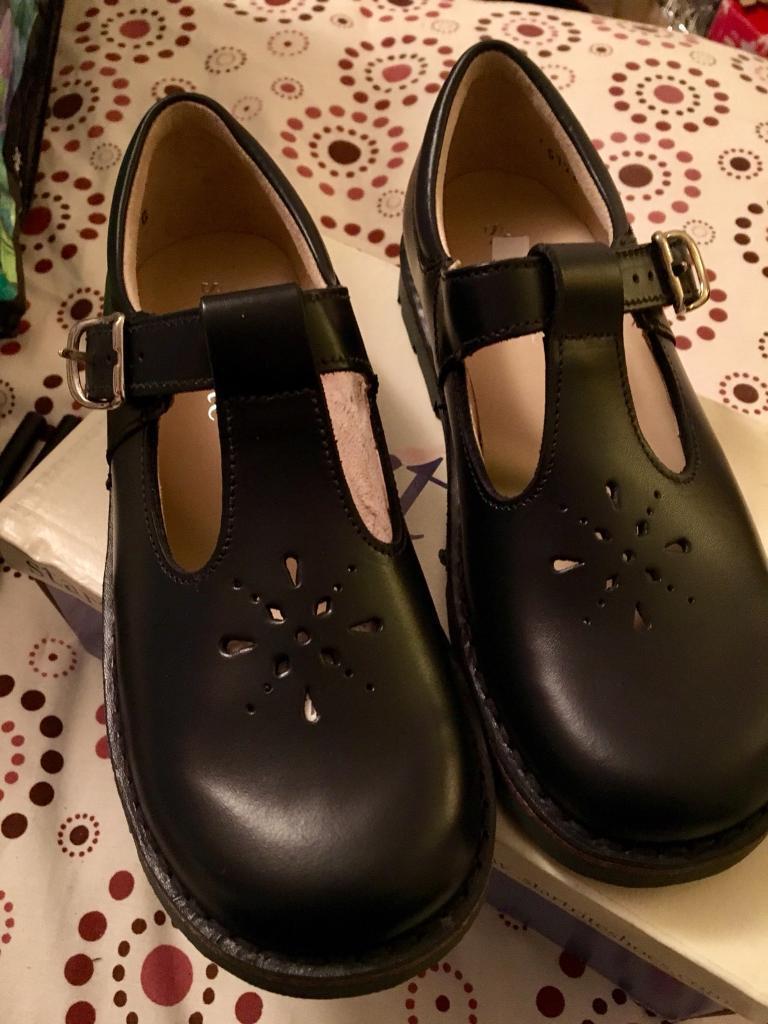 Girls leather dark blue shoes, start rite, 13 1/2 G