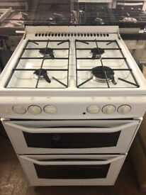 60CM WHITE DUEL FUEL GAS COOKER