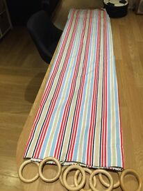 RED/BLUE/WHITE STRIPED CURTAINS (ex Great Little trading company)