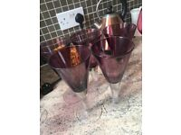 Assortment of wine and cocktail glasses £5 per set