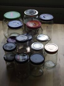 Joblot: selection of glasses for home made pickles/marmelades