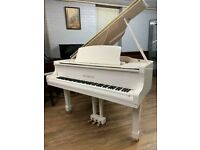 Steinhoven 148 White Baby Grand Piano | || Free delivery || Belfast pianos ||