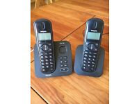 Philips duo cordless phone set with answering machine