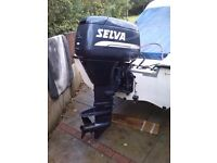 selva 40hp outboard elec start power tilt and trim 97 two stroke auto lube long shaft