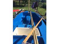 12 foot sailing rowing motor boat