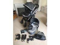 Icandy Peach 3 Blossom double buggy in truffle colour. Excellent condition