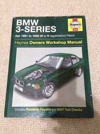 BMW 3-SERIES Apr 1991-1999 (H to V reg) Petrol Haynes Owners Workshop Manual