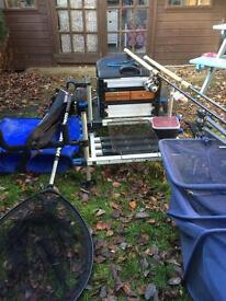 Match set up fishing tackle