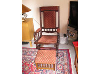 AMERICAN ROCKING CHAIR AND STOOL