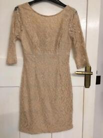 Warehouse nude & sparkle mini dress size 10