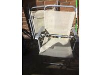 4 x foldable garden chairs