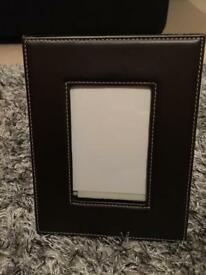 Brown photo frame