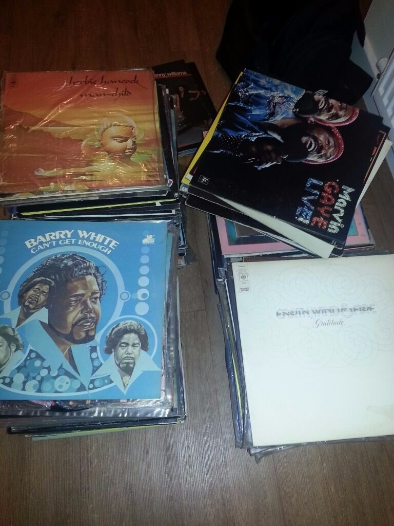 400 Job lot of old records from 70's and 80's vintage vinyl