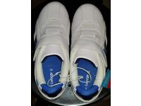 Boys white trainers size 2