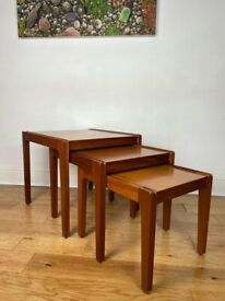 Remploy Mid Century Modern Teak Nest of Tables FREE LOCAL DELIVERY