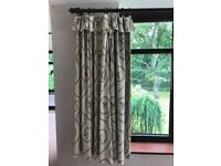 Cream and gold curtains, blackout and thermal lined