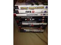TV set/White PS3 with games for sale