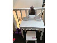 Little girls white dressing table