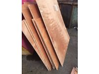 plywod sheets, various sizes 2mm thick 1mtr x 1.3mtr