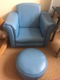 Children's chair and footstool