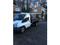 2009 59 FORD TRANSIT 2.4 tdci DROP SIDE TIPPER TRUCK 350 SRW RWD 1 owner and lease company