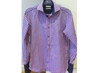"Ted Baker pink and navy shirt 15 1/2"" collar unwanted Christmas gift"