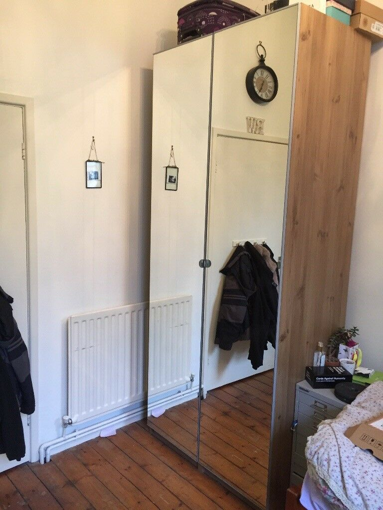 Ikea Pax mirror wardrobe 2 36m x 1m x 60cm | in Swadlincote, Derbyshire |  Gumtree
