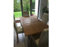 M&S Extending Dining Table and 4 Chairs