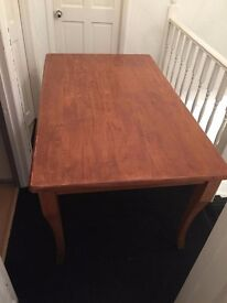 Solid wood table and 6 chairs!
