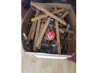 Box of trouser hangers