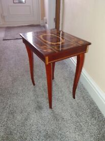 Decorative small high gloss wooden table £30