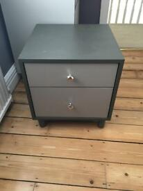 2 x Bedside Tables - Solid, ply lined drawers