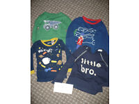 Bundle of 10 baby boy clothes 12-18mths: tops, bodysuits, sleepsuit, trousers..