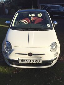 Fiat 500 1.4 Lounge - High spec - Red leather interior + Chrome pack