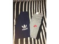 Adidas and Nike Tracksuit bottoms