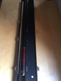BCE snooker pool cue in original case