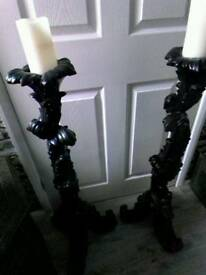 Gothic style candle holders