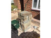 215 concrete hollow bricks