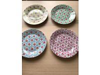 cath kidston provence rose plates set