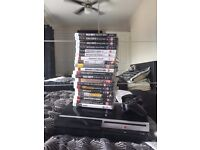 large style 80gb ps3 ,in excellellent condition ,with 19 games