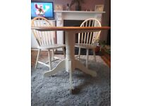 Beautiful real wood table and 4 chairs