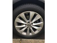 "4x Vauxhall alloys 18"" with tyres, excellent condition"