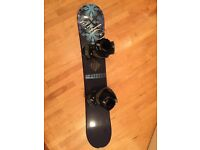 Ladies 145cm Snowboard, Bindings and Boots (size 5)